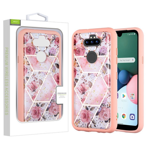 Airium Hybrid Case for Lg K31 (Aristo 5)/Fortune 3 - Roses Marbling / Pink
