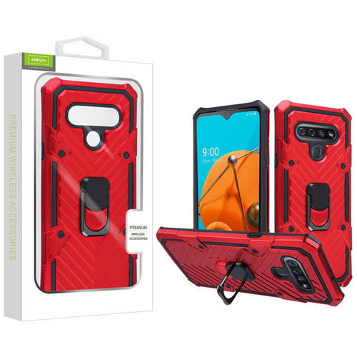 Airium Hybrid Case (with Ring Stand) for Lg Reflect - Red / Black