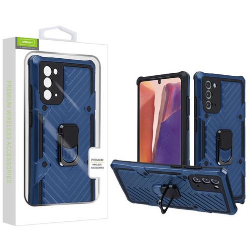 Airium Hybrid Case (with Ring Stand) for Samsung Galaxy Note 20 - Dark Blue / Black