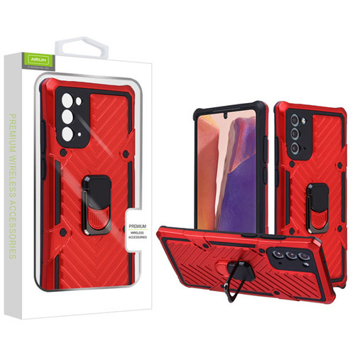 Airium Hybrid Case (with Ring Stand) for Samsung Galaxy Note 20 - Red / Black