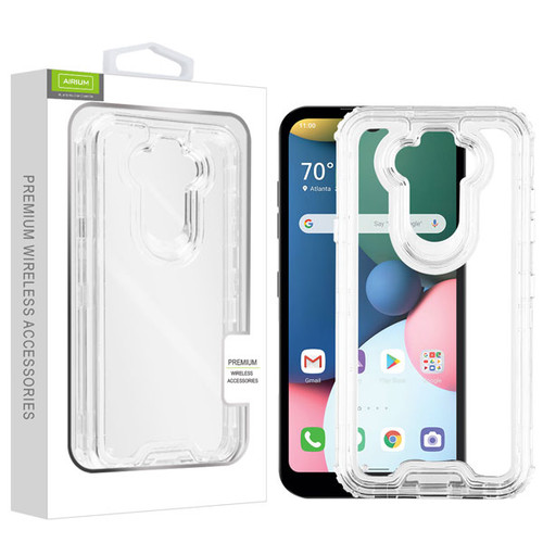 Airium Hybrid Protector Cover for Lg Phoenix 5 - Transparent Clear / Transparent Clear