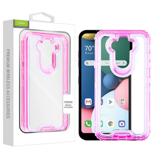 Airium Hybrid Protector Cover for Lg Phoenix 5 - Transparent Pink / Transparent Clear