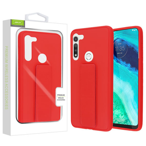 Airium Hybrid Case (with Foldable Stand) for Motorola Moto G Fast - Red