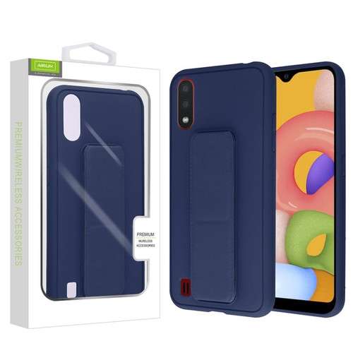 Airium Hybrid Case (with Foldable Stand) for Samsung Galaxy A01 - Ink Blue