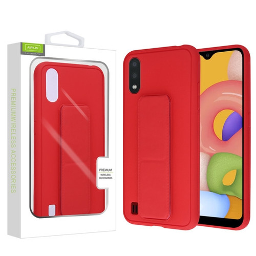 Airium Hybrid Case (with Foldable Stand) for Samsung Galaxy A01 - Red