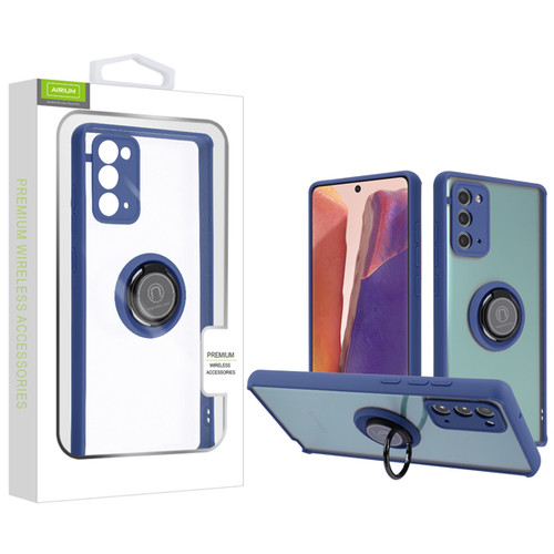 Airium Hybrid Case (with Ring Stand) for Samsung Galaxy Note 20 - Transparent Clear / Blue
