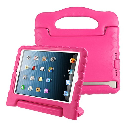 Airium Handbag Kids Drop-resistant Protector Cover for Apple iPad Air (A1474,A1475,A1476) - Hot Pink