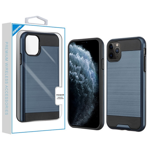 Asmyna Brushed Hybrid Protector Cover for Apple iPhone 11 Pro - Ink Blue / Black