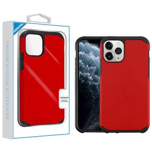 Asmyna Astronoot Protector Cover for Apple iPhone 11 Pro - Red / Black