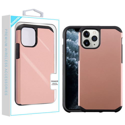 Asmyna Astronoot Protector Cover for Apple iPhone 11 Pro - Rose Gold / Black