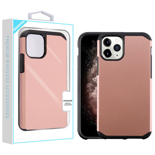 Asmyna Astronoot Protector Cover for Apple iPhone 11 Pro Max - Rose Gold / Black