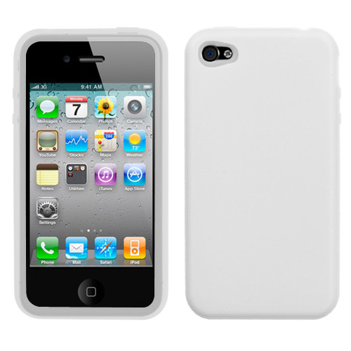 Asmyna Solid Skin Cover for Apple iPhone 4s/4 - Translucent White