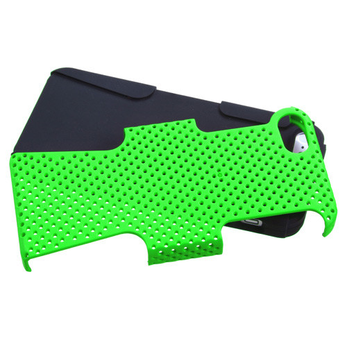 Asmyna Astronoot Protector Cover for Apple iPhone 5s/5 - Green / Black