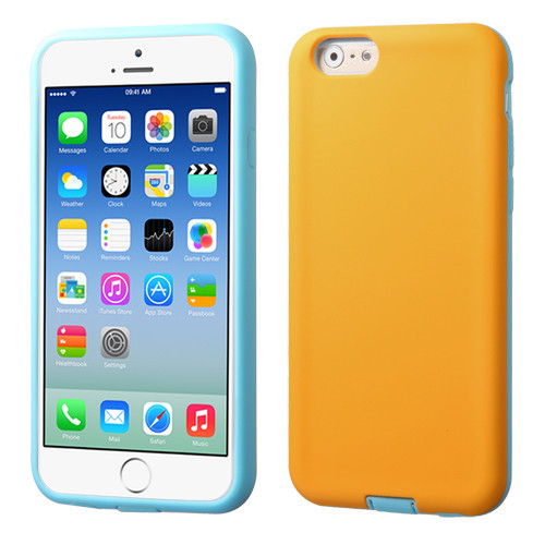 Asmyna Advanced Armor Protector Cover for Apple iPhone 6s/6 - Yellow / Tropical Teal