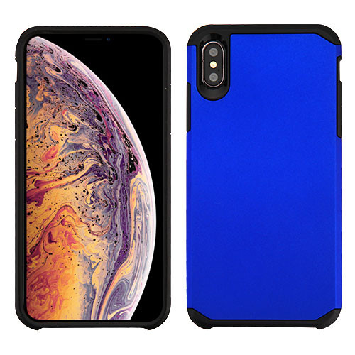 Asmyna Astronoot Protector Cover for Apple iPhone XS Max - Blue / Black