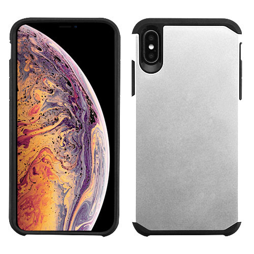 Asmyna Astronoot Protector Cover for Apple iPhone XS Max - Silver / Black