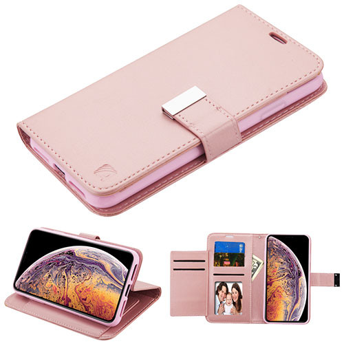 Asmyna MyJacket Wallet Xtra Series for Apple iPhone XS Max - Rose Gold