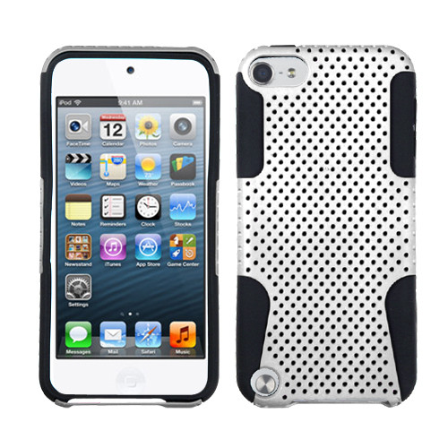 Asmyna Astronoot Protector Cover for Apple iPod touch (5th generation) - White / Black