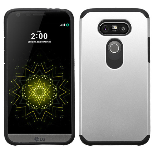 Asmyna Astronoot Protector Cover for Lg G5 - Silver / Black