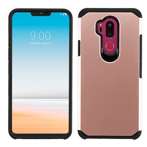 Asmyna Astronoot Protector Cover for Lg G710 (G7 Thinq) - Rose Gold / Black