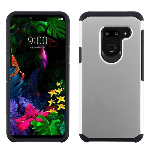 Asmyna Astronoot Protector Cover for Lg G8 ThinQ - Silver / Black