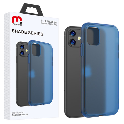 MyBat Pro Shade Series Hybrid Case for Apple iPhone 11 - Semi Transparent Navy Blue