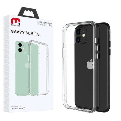 MyBat Pro Savvy Series Hybrid Case for Apple iPhone 11 - Transparent Clear / Transparent Clear