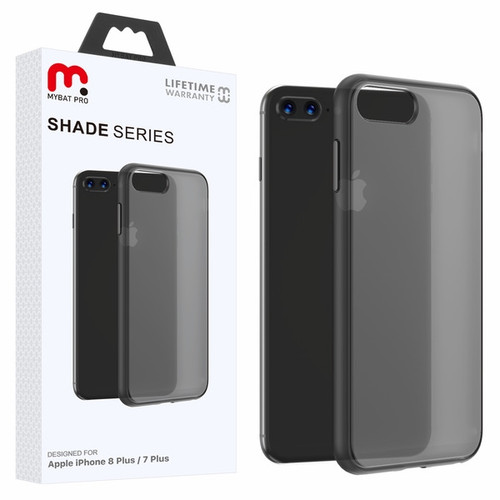 MyBat Pro Shade Series Hybrid Case for Apple iPhone 8 Plus/7 Plus - Semi Transparent Smoke