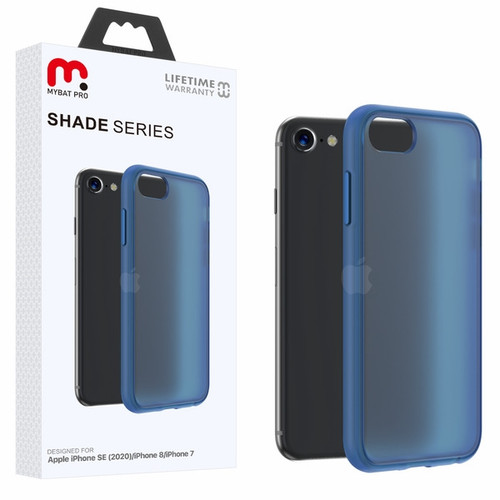 MyBat Pro Shade Series Hybrid Case for Apple iPhone SE (2020) - Semi Transparent Navy Blue