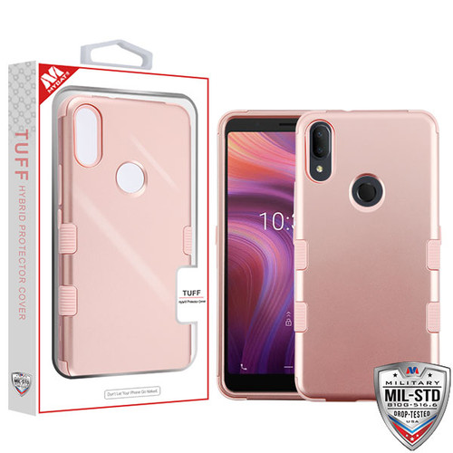 MyBat TUFF Hybrid Protector Cover [Military-Grade Certified] for Alcatel 5032w (3v 2019) - Rose Gold / Rose Gold