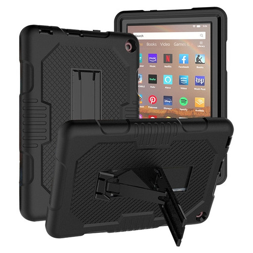 MyBat Symbiosis Stand Protector Cover for Amazon Fire HD 8 (2020)/Fire HD 8 Plus (2020) - Black / Black