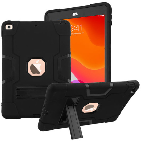 MyBat Symbiosis Stand Protector Cover for Apple iPad 10.2 (2019) (A2197, A2200, A2198) - Black / Black