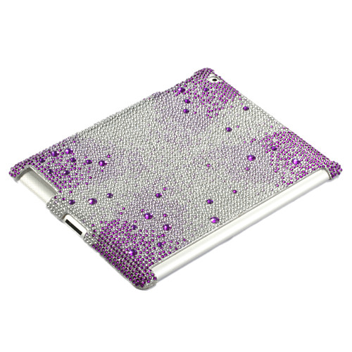 MyBat Gem Gradients Diamante SmartSlim Back Protector Cover for Apple iPad 2 (A1395,A1396,A1397) - Purple Starburst