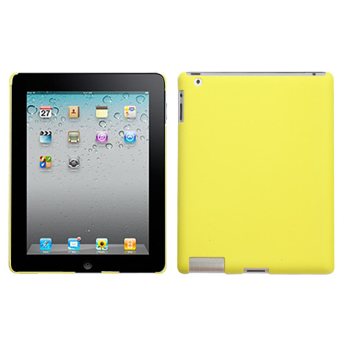 MyBat Back Protector Cover for Apple iPad 2 (A1395,A1396,A1397) - Rubberized Yellow