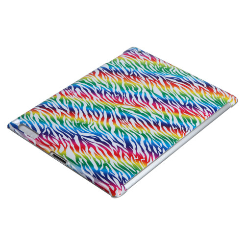 MyBat Back Protector Cover for Apple iPad 2 (A1395,A1396,A1397) - Colorful Zebra