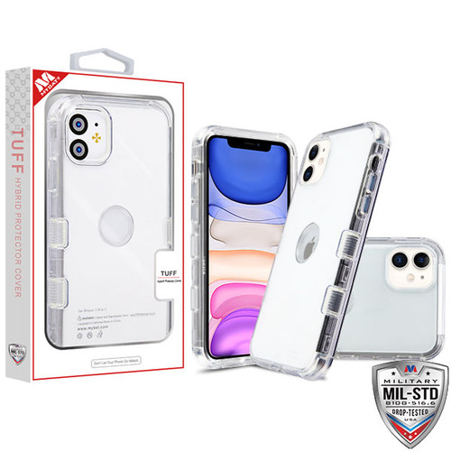 MyBat TUFF Lucid Hybrid Protector Cover [Military-Grade Certified] for Apple iPhone 11 - Transparent Clear / Transparent Clear