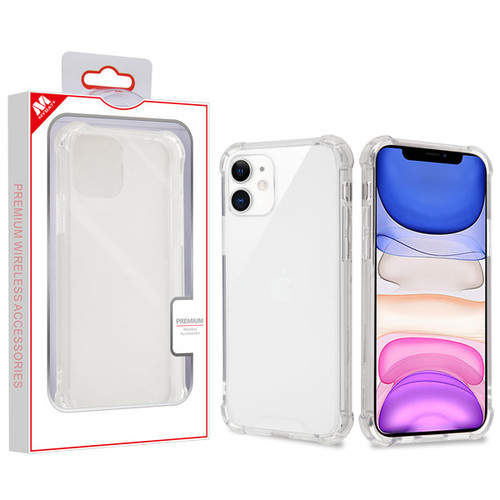 MyBat Sturdy Gummy Cover for Apple iPhone 11 - Highly Transparent Clear / Transparent Clear