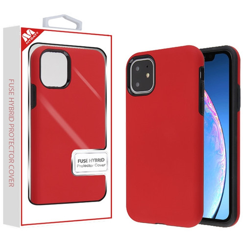 MyBat Fuse Hybrid Protector Cover for Apple iPhone 11 - Rubberized Red / Black