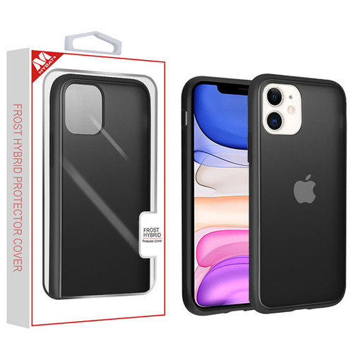 MyBat Frost Hybrid Protector Cover for Apple iPhone 11 - Semi Transparent Smoke Frosted / Rubberized Black