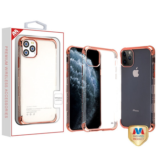 MyBat TUFF Klarity Lux Candy Skin Cover for Apple iPhone 11 Pro - Rose Gold Plating