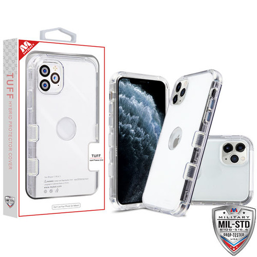 MyBat TUFF Lucid Hybrid Protector Cover [Military-Grade Certified] for Apple iPhone 11 Pro - Transparent Clear / Transparent Clear