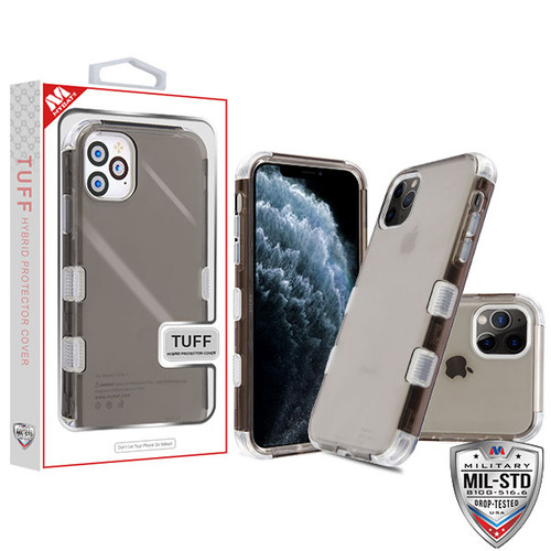 MyBat TUFF Lucid Hybrid Protector Cover [Military-Grade Certified] for Apple iPhone 11 Pro - Transparent Smoke / Transparent Clear