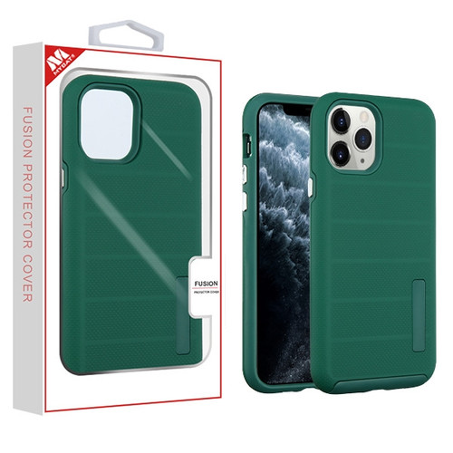 MyBat Fusion Protector Cover for Apple iPhone 11 Pro - Forest Green Dots Textured / Forest Green