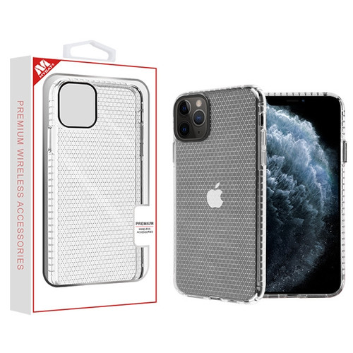 MyBat Hexagon Sturdy Candy Skin Cover for Apple iPhone 11 Pro - Transparent Clear