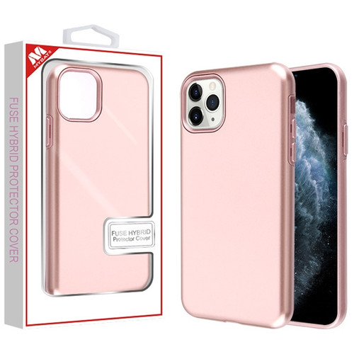 MyBat Fuse Hybrid Protector Cover for Apple iPhone 11 Pro - Rose Gold / Metallic Rose Gold