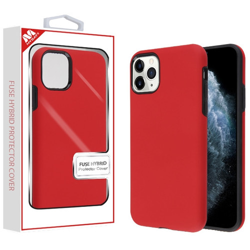 MyBat Fuse Hybrid Protector Cover for Apple iPhone 11 Pro - Rubberized Red / Black