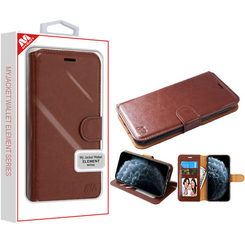 MyBat MyJacket Wallet Element Series for Apple iPhone 11 Pro - Brown