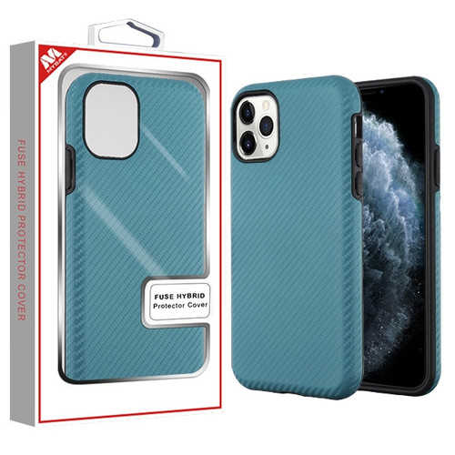 MyBat Fuse Hybrid Protector Cover for Apple iPhone 11 Pro - Ink Blue Carbon Fiber Texture / Black