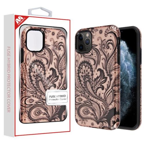 MyBat Fuse Hybrid Protector Cover for Apple iPhone 11 Pro - Phoenix Flower (2D Rose Gold) / Black