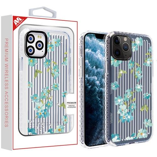 MyBat Suitup Candy Skin Cover (with Diamonds) for Apple iPhone 11 Pro - Aqua Myositis